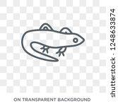 lizard icon. trendy flat vector ... | Shutterstock .eps vector #1248633874