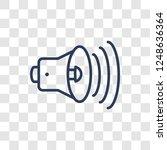 high volume icon. trendy linear ... | Shutterstock .eps vector #1248636364