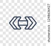 double arrow icon. trendy... | Shutterstock .eps vector #1248636427