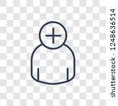 add icon. trendy linear add... | Shutterstock .eps vector #1248636514