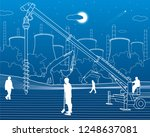 construction plant. people... | Shutterstock .eps vector #1248637081