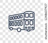 double decker bus icon. trendy... | Shutterstock .eps vector #1248637927