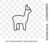 alpaca icon. trendy flat vector ... | Shutterstock .eps vector #1248640804