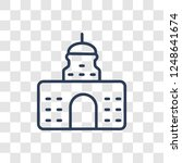 government icon. trendy linear... | Shutterstock .eps vector #1248641674