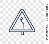 right bend sign icon. trendy... | Shutterstock .eps vector #1248641857