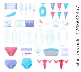 big set of menstruation theme.... | Shutterstock .eps vector #1248642457