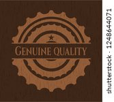 genuine quality wood signboards | Shutterstock .eps vector #1248644071