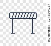 barrier sign icon. trendy... | Shutterstock .eps vector #1248644287