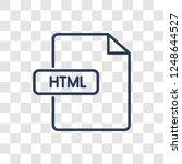 html icon. trendy linear html... | Shutterstock .eps vector #1248644527