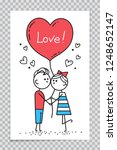template of happy valentines... | Shutterstock .eps vector #1248652147