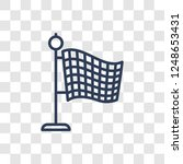 finish flag icon. trendy linear ... | Shutterstock .eps vector #1248653431