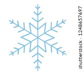 cute snowflake cartoon | Shutterstock .eps vector #1248657697