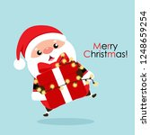christmas greeting card with... | Shutterstock .eps vector #1248659254
