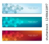 set of vector banners and... | Shutterstock .eps vector #1248661897