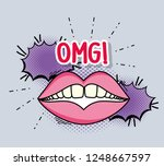 muth with teeth and chat bubble ...   Shutterstock .eps vector #1248667597