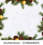 christmas decoration. frame of... | Shutterstock . vector #1248668641
