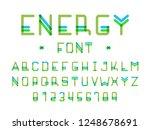 energy font. vector alphabet... | Shutterstock .eps vector #1248678691