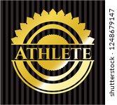 athlete golden emblem or badge | Shutterstock .eps vector #1248679147