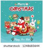vintage christmas poster design ... | Shutterstock .eps vector #1248683644