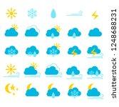 weather icons  vector...   Shutterstock .eps vector #1248688231