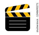 clapperboard flat vector icon   ... | Shutterstock .eps vector #1248690271