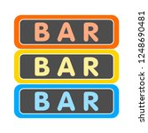 vector bar sign | Shutterstock .eps vector #1248690481