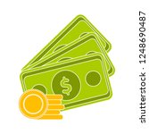 dollar money cash icon  cash... | Shutterstock .eps vector #1248690487