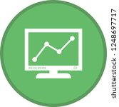 graph line screen glyph round...   Shutterstock .eps vector #1248697717