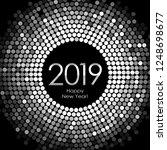 vector   happy new year 2019  ... | Shutterstock .eps vector #1248698677