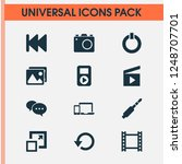 music icons set with jack ... | Shutterstock . vector #1248707701