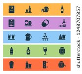 beverages icons set with ale... | Shutterstock .eps vector #1248707857