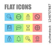 network icons set with... | Shutterstock .eps vector #1248707887