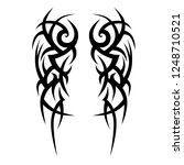 tattoo tribal  symmetric thorn... | Shutterstock .eps vector #1248710521