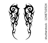 tribal tattoo art designs art. | Shutterstock .eps vector #1248710524