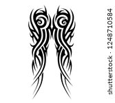 tribal tattoo art designs art. | Shutterstock .eps vector #1248710584