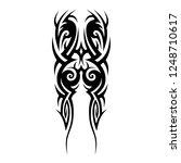 tribal tattoo art designs art.   Shutterstock .eps vector #1248710617