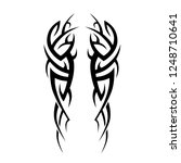 tattoo tribal vector sleeve arm ... | Shutterstock .eps vector #1248710641