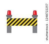 road warning barrier. road... | Shutterstock .eps vector #1248722257