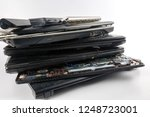 dirty obsolete laptops isolated ... | Shutterstock . vector #1248723001