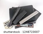 dirty obsolete laptops isolated ... | Shutterstock . vector #1248723007
