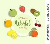 world health day greeting card... | Shutterstock . vector #1248725641