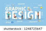 graphic design concept. idea of ...   Shutterstock . vector #1248725647