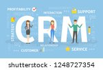 crm concept illustration. idea... | Shutterstock . vector #1248727354