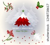merry christmas and happy new... | Shutterstock .eps vector #1248728617