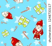 christmas seamless pattern with ... | Shutterstock . vector #1248733117