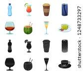 vector design of drink and bar... | Shutterstock .eps vector #1248733297