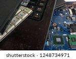obsolete laptops isolated on... | Shutterstock . vector #1248734971