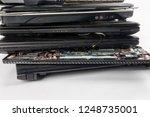 obsolete laptops isolated on... | Shutterstock . vector #1248735001