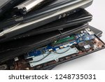 obsolete laptops isolated on... | Shutterstock . vector #1248735031