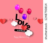 hearts and balloons for... | Shutterstock .eps vector #1248750814